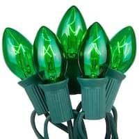 Wintergreen Lighting 67239 25 C7 5W Holiday Bulbs on Green Wire