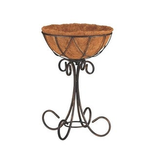 "Mintcraft W52891 Coconut Lined Planter With Stand, 18-1/2"" x 13"""