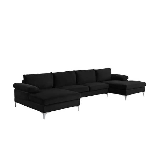 Shop Modern Xl Velvet Upholstery U Shaped Sectional Sofa On Sale Overstock 28156967