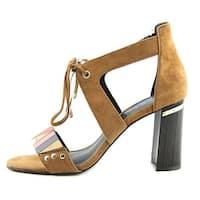 M4DE Womens Brazillian Leather Open Toe Casual Ankle Strap Sandals - 10