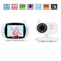 """Fitnate 3.5""""Video Baby Monitor with Camera Stand Shelf Wireless Night Vision 2 Way Talkback Audio"""