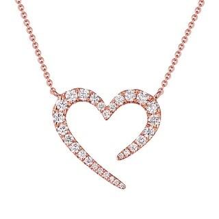"Prism Jewel Valentine 17"" Necklace With 0.45 Carat Natural Diamond - White"