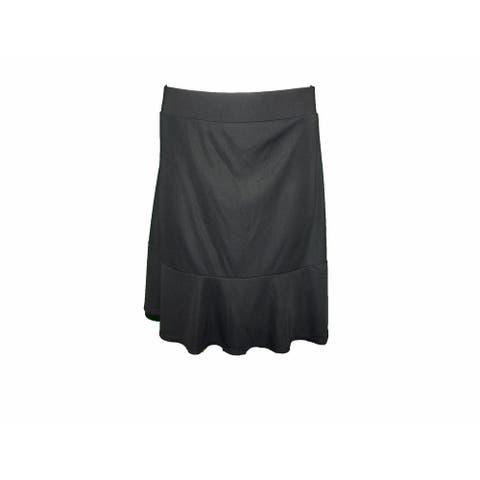INC Women's A-line Top and Bottom Paneled Sway Skirt, (Black Medium) - M