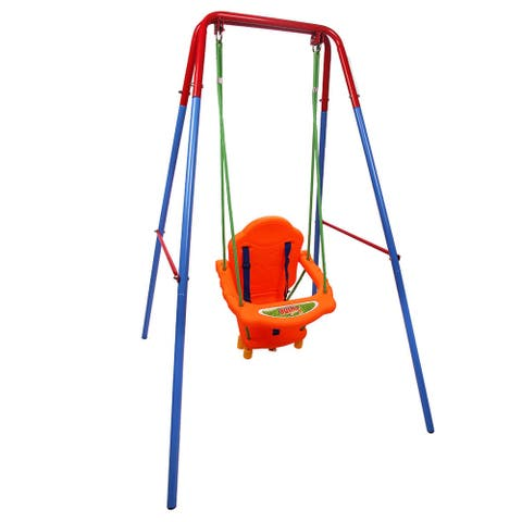 Outdoor Backyard Playground Children Swing Set with Rope