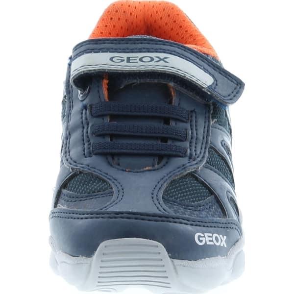 Innecesario juguete minusválido  Shop Geox Boys Junior Munfrey Fashion Sneakers - Navy/Silver - Overstock -  29073535