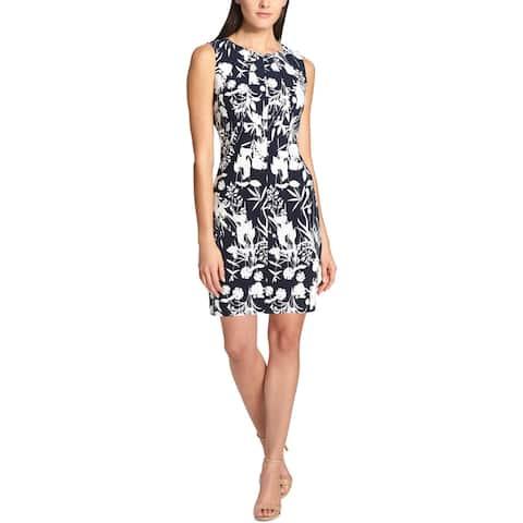 Tommy Hilfiger Womens Scuba Dress Floral Knee-Length - 14