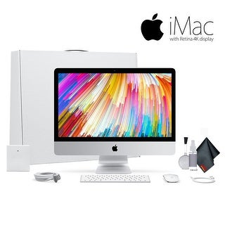 Apple iMac 21.5 Inch 3.4GHz Intel Core i5, 8GB RAM, 1TB Fusion Drive, Silver MNE02LL/A Bundle