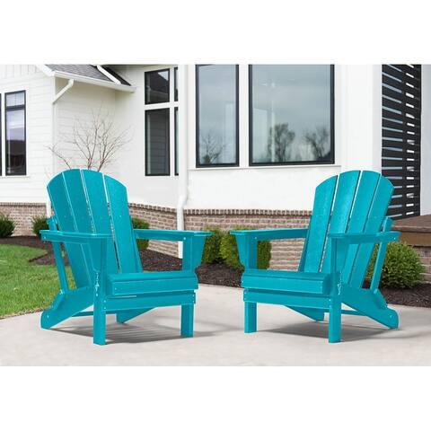 Laguna Outdoor Folding Patio Poly Adirondack Chair (Set of 2)