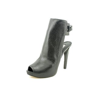 Guess Catea Women Open-Toe Leather Black Heels