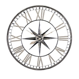 "IMAX Home 78226  43"" Diameter Merrill Analog Wall Clock - Gray"