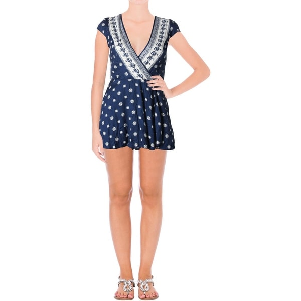 9d5e283cb06 Shop Sadie   Sage Womens Romper Pattern Faux Wrap - Free Shipping On Orders  Over  45 - Overstock - 22729515