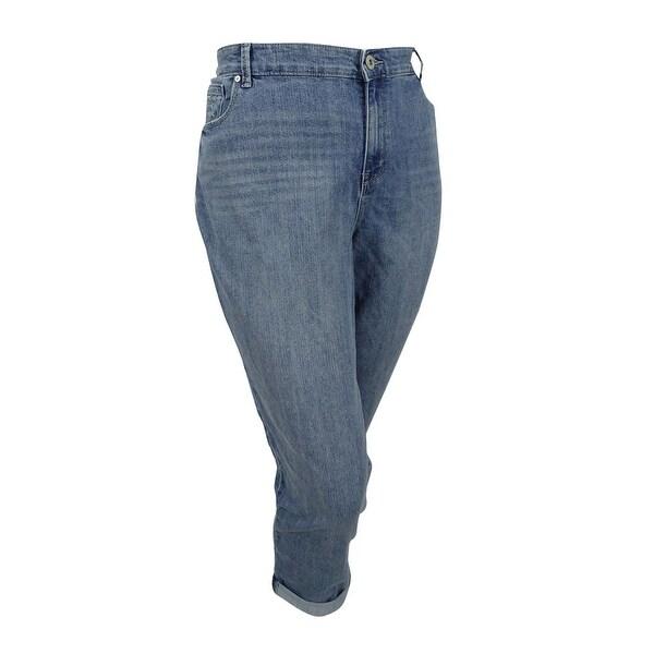 a8c3588c22d Shop Style   Co. Womens Plus Size Embroidered Boyfriend Jeans (14W ...