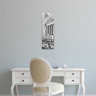 Easy Art Prints Panoramic Image 'Facade of New York Stock Exchange, Manhattan, New York City, New York' Canvas Art