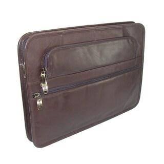 Winn International Leather Underarm Portfolio (Option: brown)