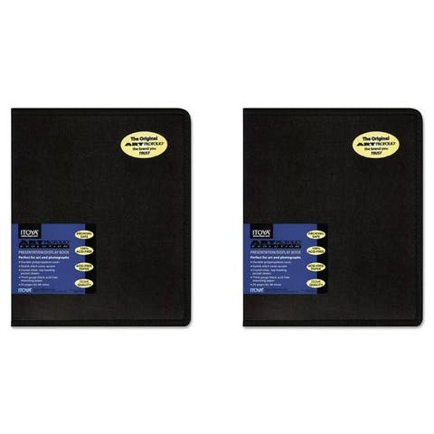 Itoya EV-12-8 Art Profolio Evolution 8.5x11in. Art Size 24 Sheets for 48 Pictures Black (2 Pack)