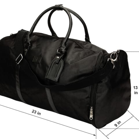 The Weekender Charging Garment Bag In Black Or Grey