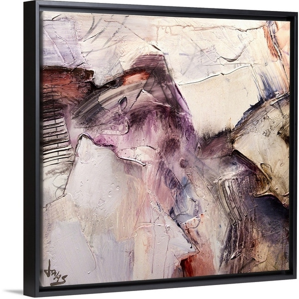 """""""Intuition I"""" Black Float Frame Canvas Art"""