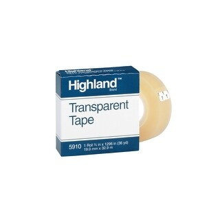 Highland 5910 Transparent Tape, 0.75 x 1296 Inches