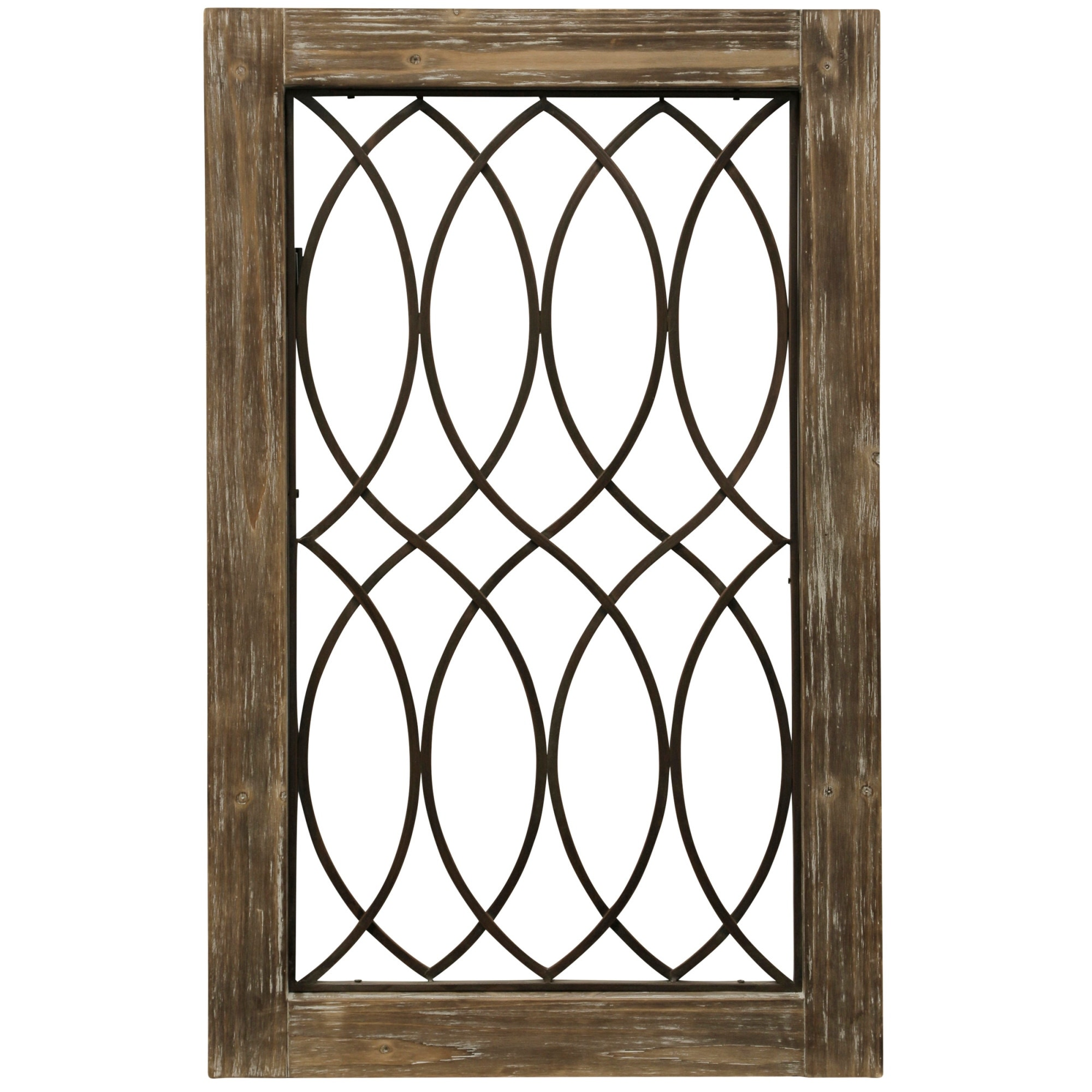 StyleCraft SC-WI52459  37 1/2 x 23 1/2 - Grate 2 Metal and Plywood Farm and Country Wall Panel - Natural