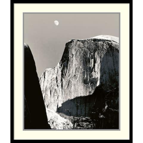 Framed Art Print 'Moon Over Half Dome' by Ansel Adams 27 x 32-inch