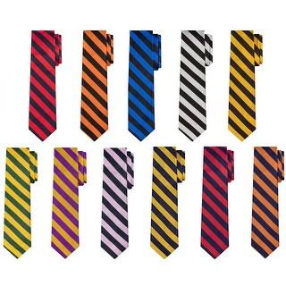 Jacob Alexander Stripe Print Men's College Striped Extra Long Tie - One size