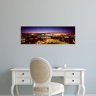 Easy Art Prints Panoramic Images's 'Las Vegas NV' Premium Canvas Art