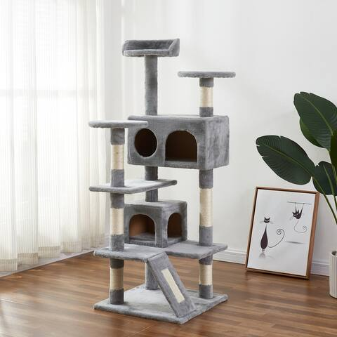 Cat Tree Apartment with Sisal Handrails