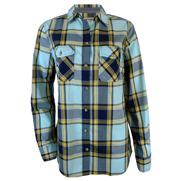 Victory Outfitters Ladies' Checkered Button Up Shirt w/ Two Chest Pockets. Opens flyout.