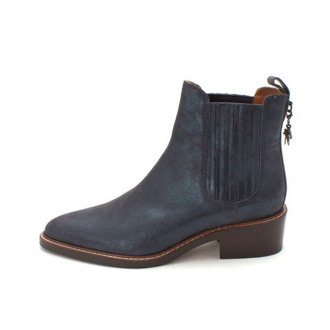 Coach Womens Bowery Bootie Suede Closed Toe Ankle Fashion Boots