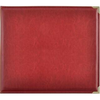 "Kaisercraft Leather D-Ring Album 12""X12""-Deep Red"