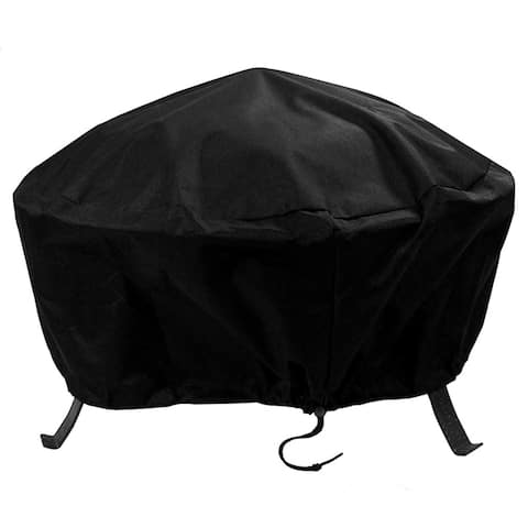 Sunnydaze Durable Fire Pit Cover Round - Long Lasting - Options - 40-Inch