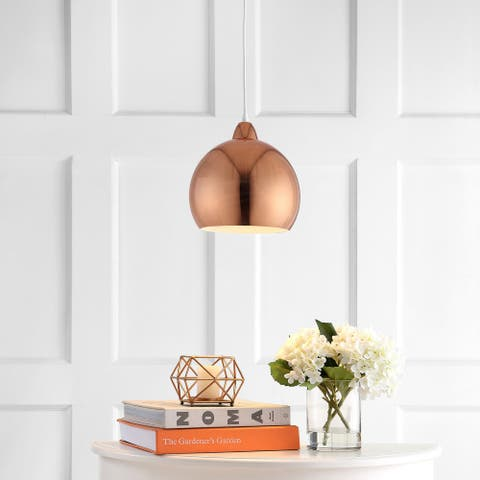 "Safavieh Lighting Sabine Adjustable 1-light LED Copper Pendant - 10""x10""x12.1-84.1"""