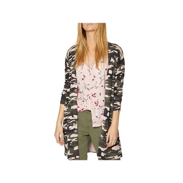 1c845daff7518 Shop Sanctuary Womens Cardigan Sweater Everyday Camo - Free Shipping Today  - Overstock - 24260684