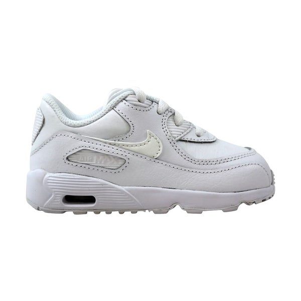 f018fe7e68850c Shop Nike Air Max 90 Leather White Toddler 833416-100 Size 8 Medium ...