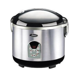 Oster Smart Digital 20-Cup Rice Cooker-Brush Stainless Steel - 003071-000-000