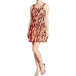 Aqua Womens Scuba Dress Stretch Textured