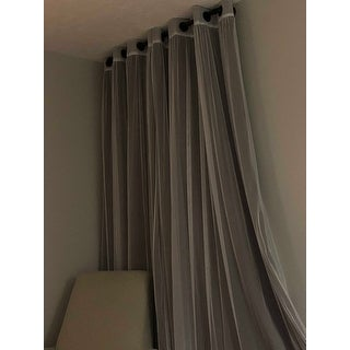 Aurora Home Mix and Match Blackout Tulle Lace 4-piece Curtain Set
