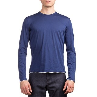 Prada Men's Cotton Long Sleeve Shirt Blue