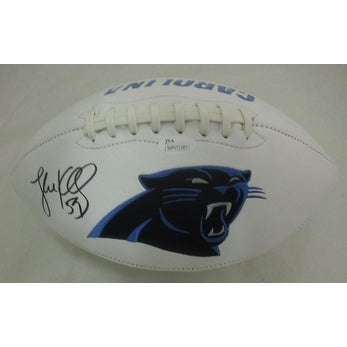 Luke Kuechly Autographed Signed Carolina Panthers Football Ball Jsa Coa Balls