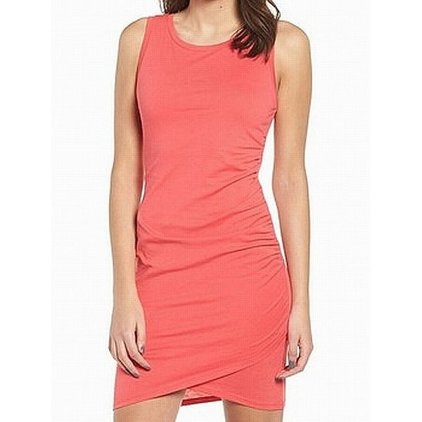 c1969f8087 Shop Leith Pink Teaberry Womens Size XS Ruched Stretch Sheath Dress ...