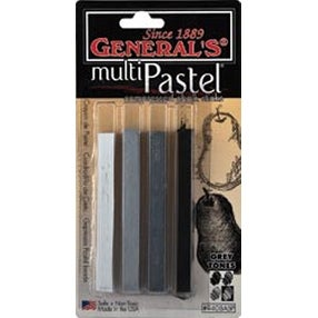 Gray Tones - Multipastel Compressed Chalk Sticks 4/Pkg
