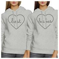 Best Babes Unisex Grey Fleece Pullover Hoodies Funny Winter Gifts