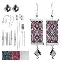 Refill - Loom Statement Earrings in Bristol - Exclusive Beadaholique Jewelry Kit