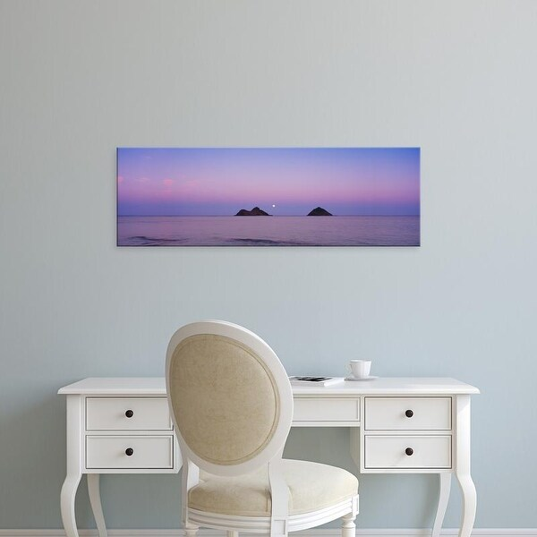 Easy Art Prints Panoramic Images's 'Islands at dusk, Na Mokulua Islands, Oahu, Hawaii, USA' Premium Canvas Art