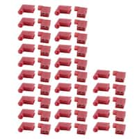 50Pcs Flag Crimp Terminals Female Nylon Fully Insulated Wire Connectors Red