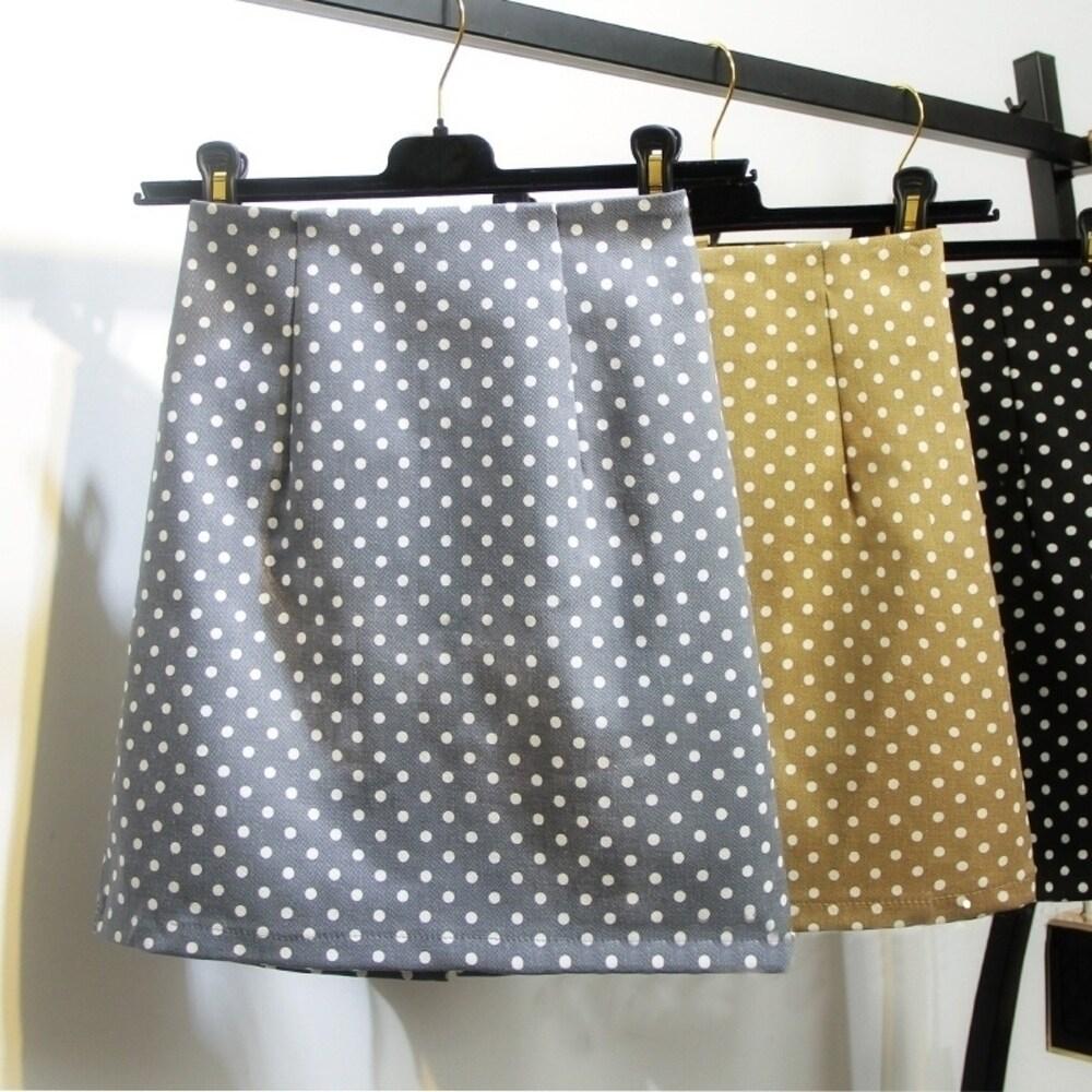 Fashion Women Summer Dot Printing Bust Skirt