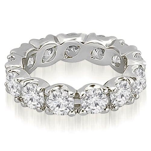 14K White Gold 2.70 cttw. Round Diamond Eternity Ring HI,SI1-2