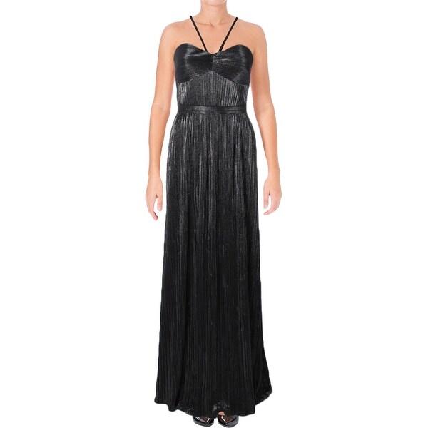 Laundry by Shelli Segal Womens Formal Dress Pleated Metallic