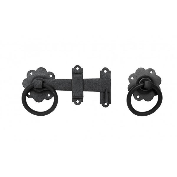 Floral Gate Latch Heavy Duty Wrought Iron 6 W | Renovator's Supply