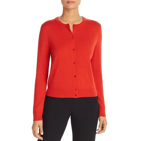 Boss Womens FEDANIA Cardigan Sweater Virgin Wool Button Up